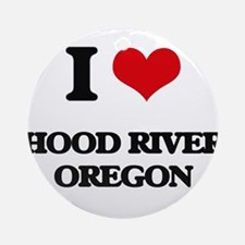 I love Hood River Oregon Ornament (Round)