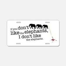 If you don't like the elephants Aluminum License P