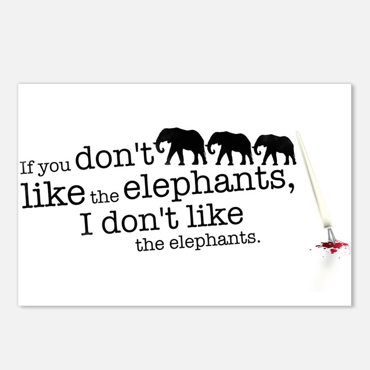 If you don't like the elephants Postcards (Package