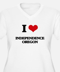 I love Independence Oregon Plus Size T-Shirt