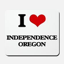 I love Independence Oregon Mousepad
