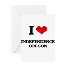 I love Independence Oregon Greeting Cards