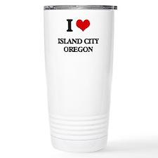 I love Island City Oreg Travel Coffee Mug