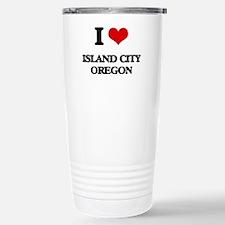 I love Island City Oreg Travel Mug