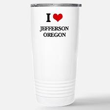 I love Jefferson Oregon Travel Mug