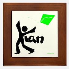 Kian Black and Green Design Framed Tile