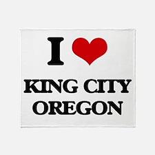 I love King City Oregon Throw Blanket