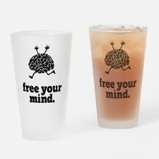 Free Your Mind Drinking Glass