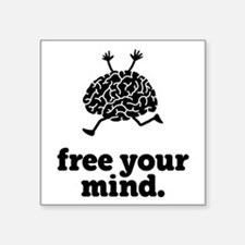 """Free Your Mind Square Sticker 3"""" x 3"""""""