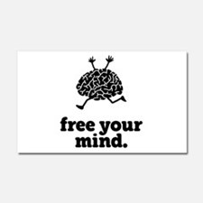 Free Your Mind Car Magnet 20 x 12