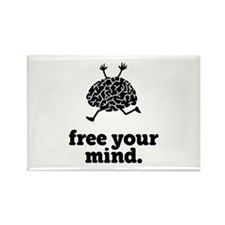 Free Your Mind Rectangle Magnet
