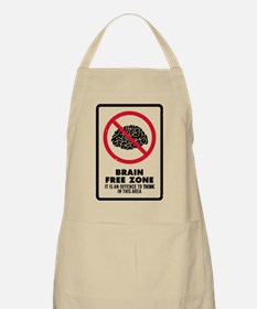 Brain Free Zone Apron