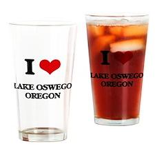 I love Lake Oswego Oregon Drinking Glass