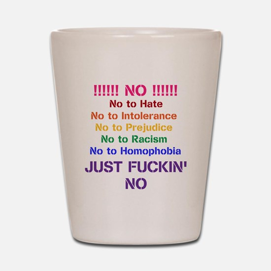 No to Hate Shot Glass