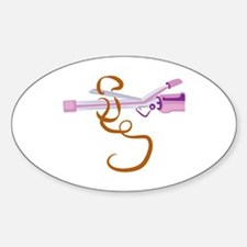 Curling Iron Decal