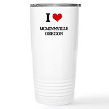 I love McMinnville Oreg Travel Mug