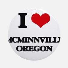 I love McMinnville Oregon Ornament (Round)