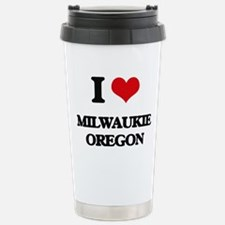 I love Milwaukie Oregon Travel Mug