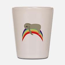 Sloth On Rainbow Shot Glass