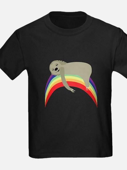 Sloth On Rainbow T-Shirt
