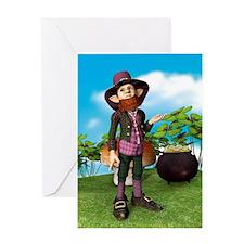 Leprechaun Greeting Cards
