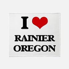 I love Rainier Oregon Throw Blanket