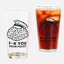 Brain Police Drinking Glass