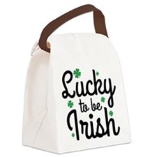 Lucky To Be Irish Canvas Lunch Bag