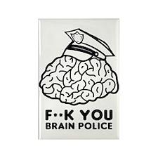 Brain Police Rectangle Magnet