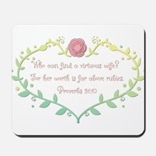 Proverbs 31: 10 - Bright Colors Mousepad
