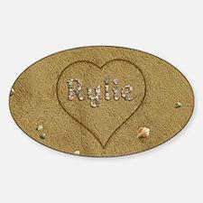 Rylie Beach Love Sticker (Oval)