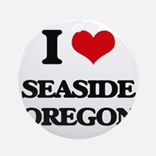 I love Seaside Oregon Ornament (Round)