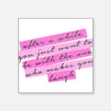 """SATC: The One Who Makes You Square Sticker 3"""" x 3"""""""