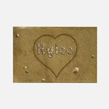 Rylee Beach Love Rectangle Magnet