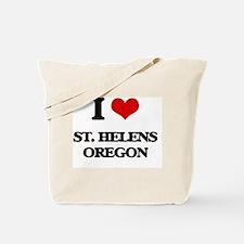 I love St. Helens Oregon Tote Bag