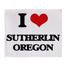 I love Sutherlin Oregon Throw Blanket