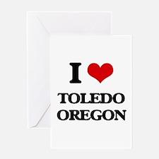 I love Toledo Oregon Greeting Cards