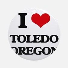 I love Toledo Oregon Ornament (Round)