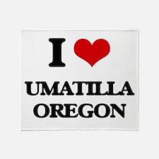 I love Umatilla Oregon Throw Blanket