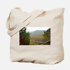 Hiking Above Chimney Rock Tote Bag