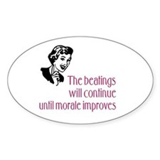 Inspirational Message Oval Bumper Stickers