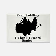 Keep Paddling Rectangle Magnet