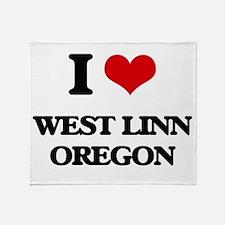 I love West Linn Oregon Throw Blanket