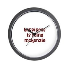 happiness is being Mckenzie Wall Clock