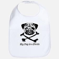 My Pug Is a Pirate Bib