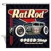 Rat Rod Speed Shop 2 Shower Curtain