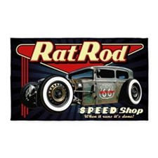 Rat Rod Speed Shop 2 Area Rug