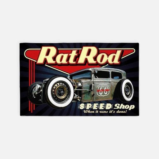 Rat Rod Speed Shop 2 Area Rug