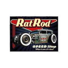 Rat Rod Speed Shop 2 5'x7'Area Rug