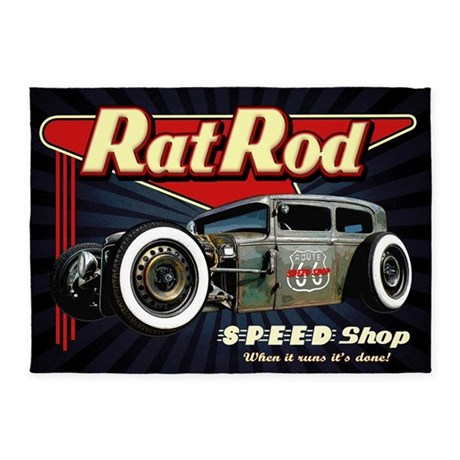 Rat Rod Speed Shop 2 5u0027x7u0027Area Rug